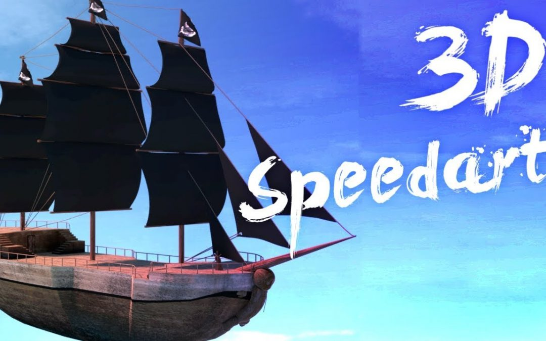 [3D SpeedArt] – La nave da combattimento di Crepe